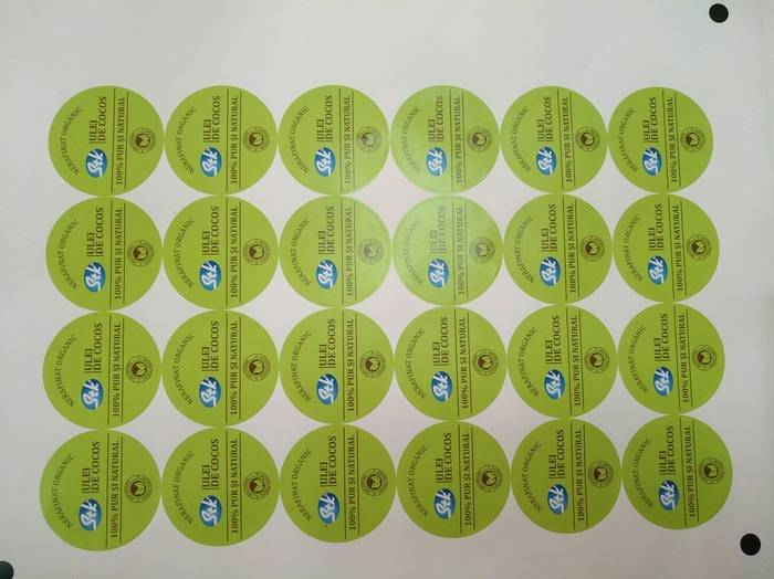 etichete ulei cocos